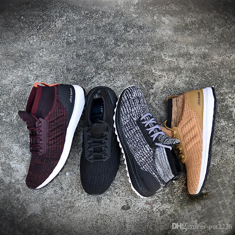 5ece6b215a445 2019 Ultra Boost ATR Mid Running Shoes Burgundy Oreo Triple Black High  Quality UltraBoost Primeknit Men Womens Outdoor Sneakers 11 Colour 36 45  From Put2226 ...