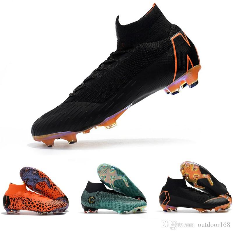 finest selection e37e0 70d01 2019 Mercurial Superfly SuperflyX KJ VI XII 360 Elite Ronaldo 6 12 CR7 FG  TF IC High Mens Women Boys Soccer Shoes Cristiano Football Boots Cleats  From ...