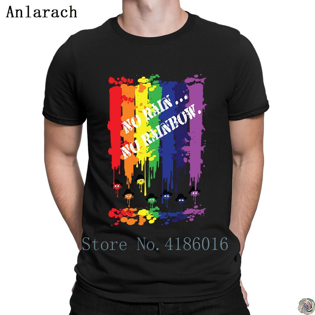 Großhandel Kein Regen Nein Regenbogen T Shirts Bilder Awesome Herren