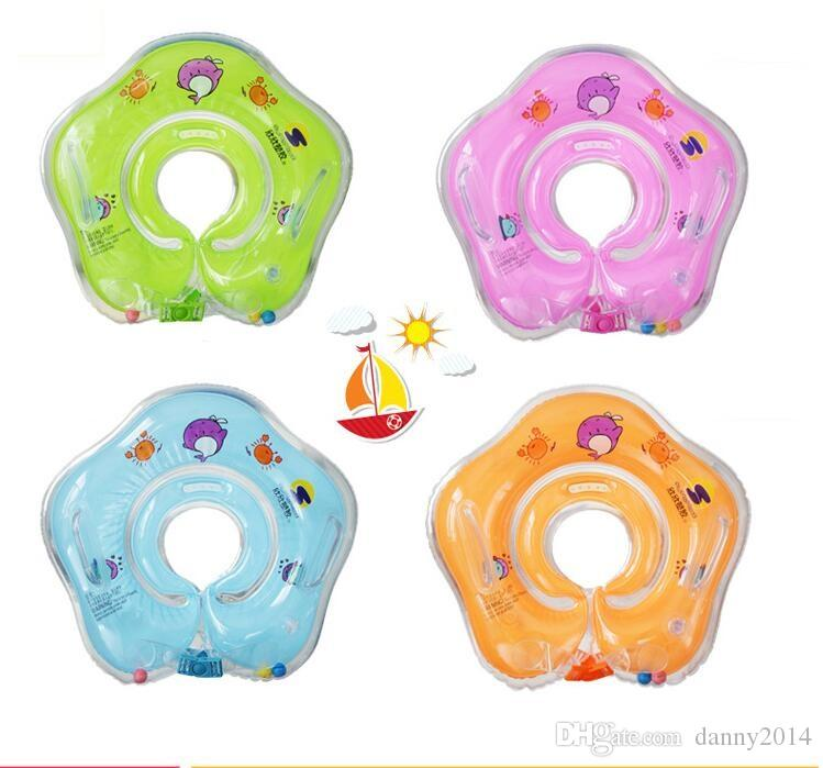 New Baby Inflatable Swimming pool Neck Float Inflatable Tube Ring Safety Child Toys 0-2 Years Babies Swim Ring