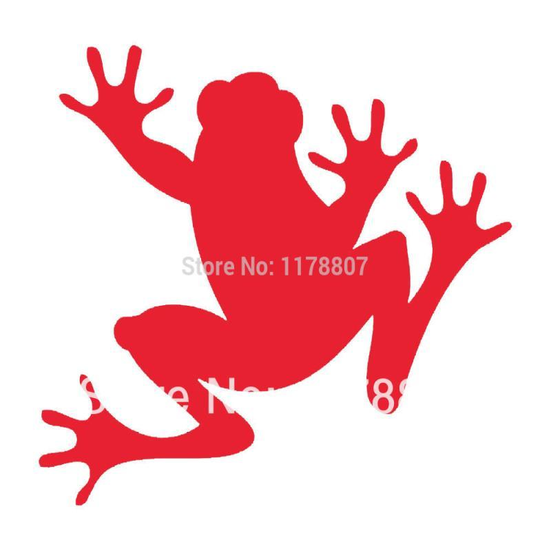 HotMeiNi Wholesale 20pcs/lot Sram Frog Sticker For Car Rear Windshield Truck SUV Auto Door Laptop Kayak Canoe Art Wall Die Cut 8 Colors