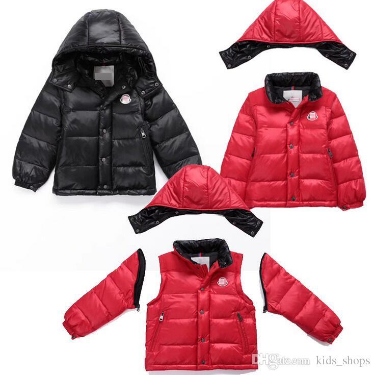 new style 07977 18f5b M-Logo-Verdickung der heißen Art Kinderkleidung M kann warme Jacke der  Daunenjacke der Kinder herunterziehen / Jacke unten Ärmel abnehmen
