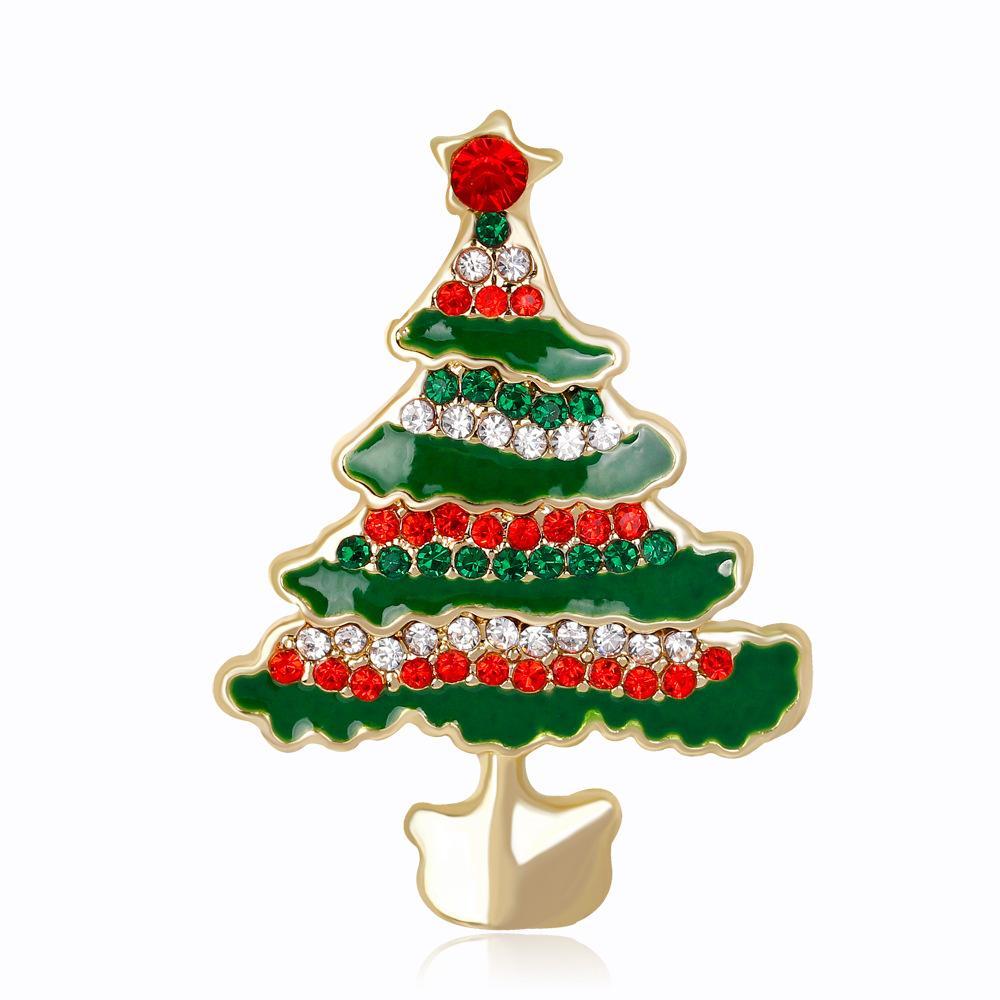 Bulk Fashion Enamel Green Christmas Gifts Brooches Pins for Women ...