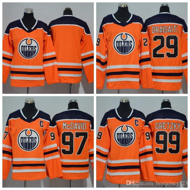 2019 Youth Edmonton Oilers Jerseys 97 McDavid 99 Wayne Gretzky 29 Leon  Draisaitl Milan Lucic Cam Talbot Nugent Hopkins Orange Kids Hockey From  Bestjersey123 ... b78123a31