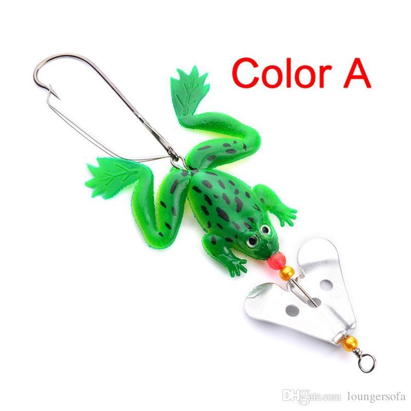Bionic Frog Fisch Köder Mit Drehen Blech 4 Farbe Weiche Köder Praktische Angelgeräte Großverkauf der Fabrik 1 6 hw X