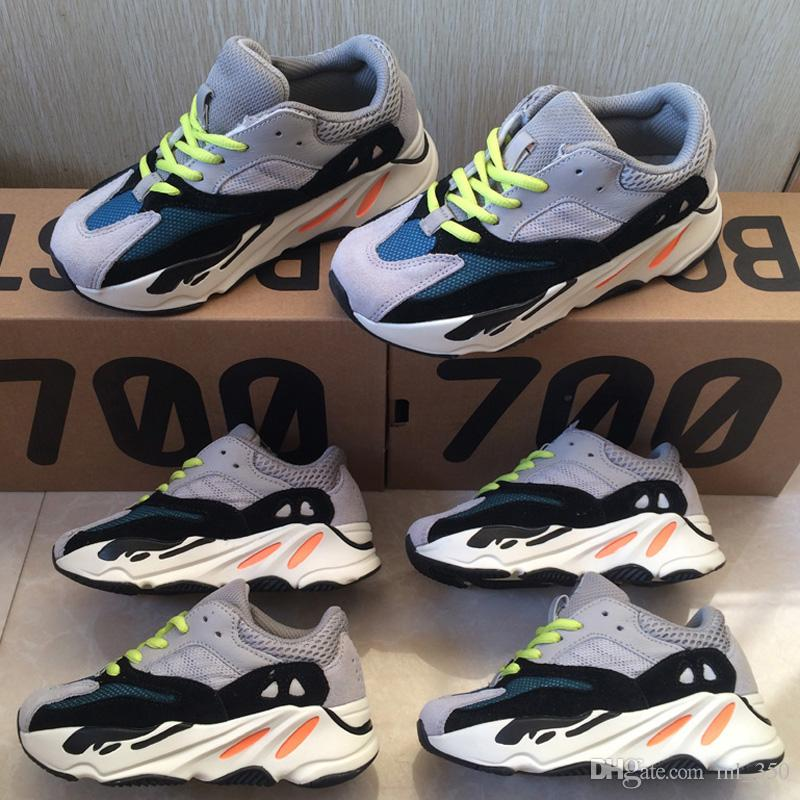 Kinder Schuhe Wave Runner 700 Kanye West Laufschuhe Mädchen Boy Trainer Sneaker Kinder Sportschuhe