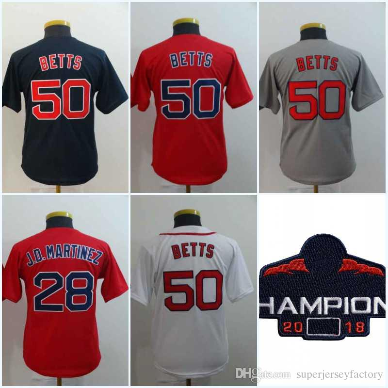 outlet store 7780c 3b3a2 Women/Youth 50 Mookie Betts Jersey 28 J.D. Martinez 16 AndrewBenintendi Top  Quality All Stitched Baseball Jerseys