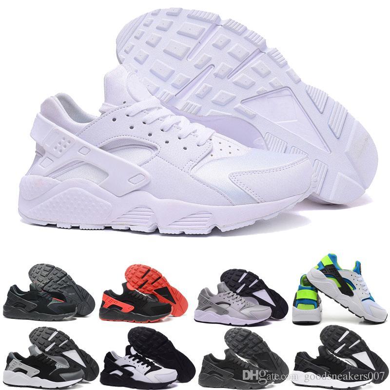 official photos 4aab9 33628 Großhandel 2018 Klassische Nike Air Huarache Laufschuhe Huaraches 1 Mens Frauen  Triple Schwarz Weiß Rot Atmungsaktive Mesh Sport Casula Sneakers Größe Eur  ...