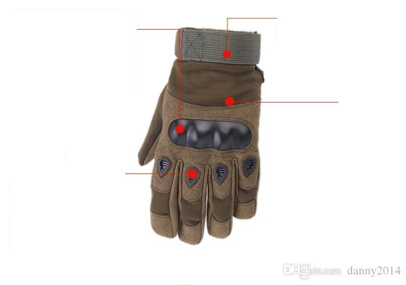 Leather Tactical Gloves Motorcycle bike cycling gloves full finger protective gloves outdoor sport Anti-skid fitness gym glove mitts