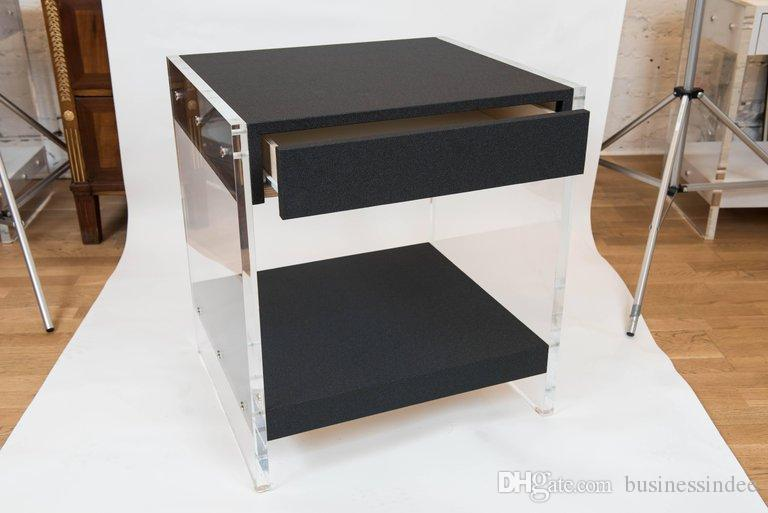 Acrylic bedroom furniture Custom 2019 Faux Shagreen Drawer Acrylic Side Table Lucite Bedroom Furniture From Businessindee 62111 Dhgatecom Dhgate 2019 Faux Shagreen Drawer Acrylic Side Table Lucite Bedroom
