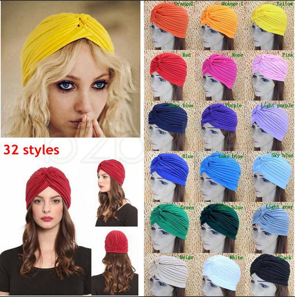 Baby Toddler Boy Girl Indian Style Stretchy Solid Turban Hat Hair Head Wrap Cap Boys' Baby Clothing Hats & Caps