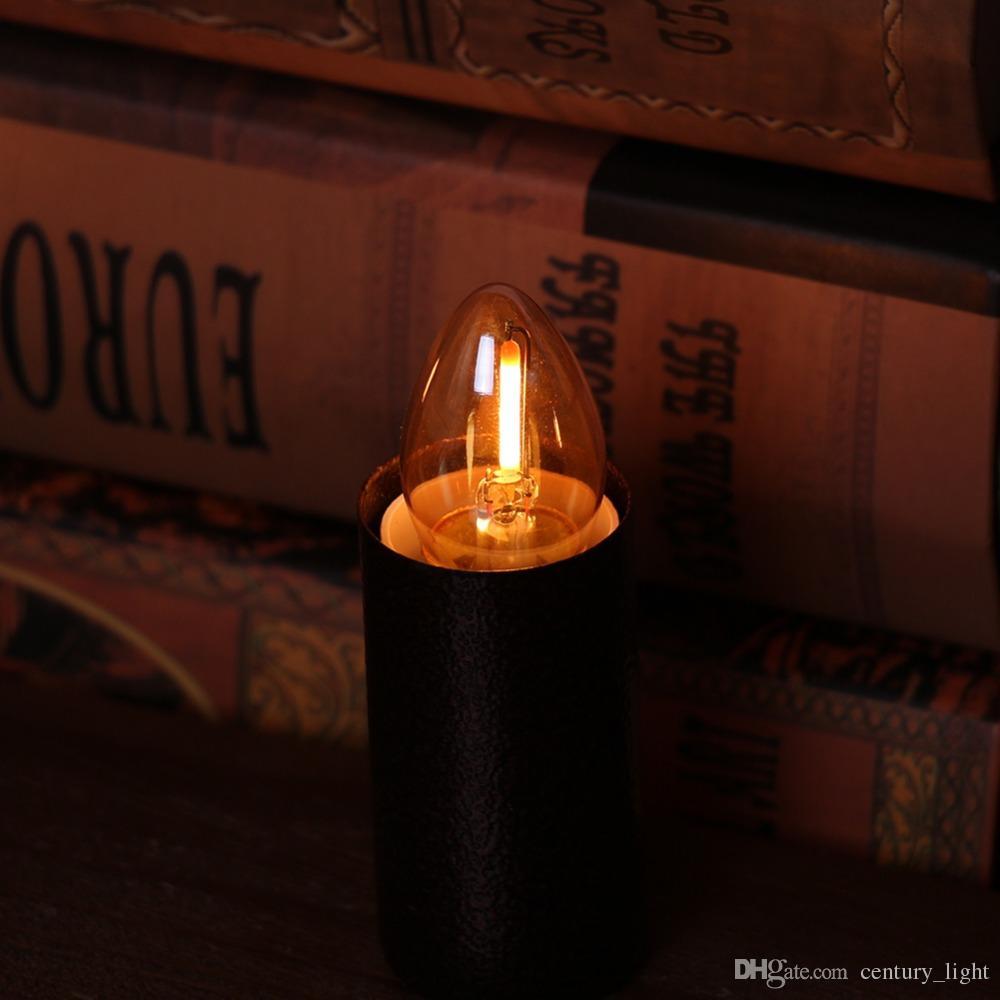 Amber Cam C7 Edison LED Filament Gece Ampul 0.5 W 2200 K E12 E14 Baz 110 V 220VAC Dekoratif Kolye mum Aydınlatma Dim