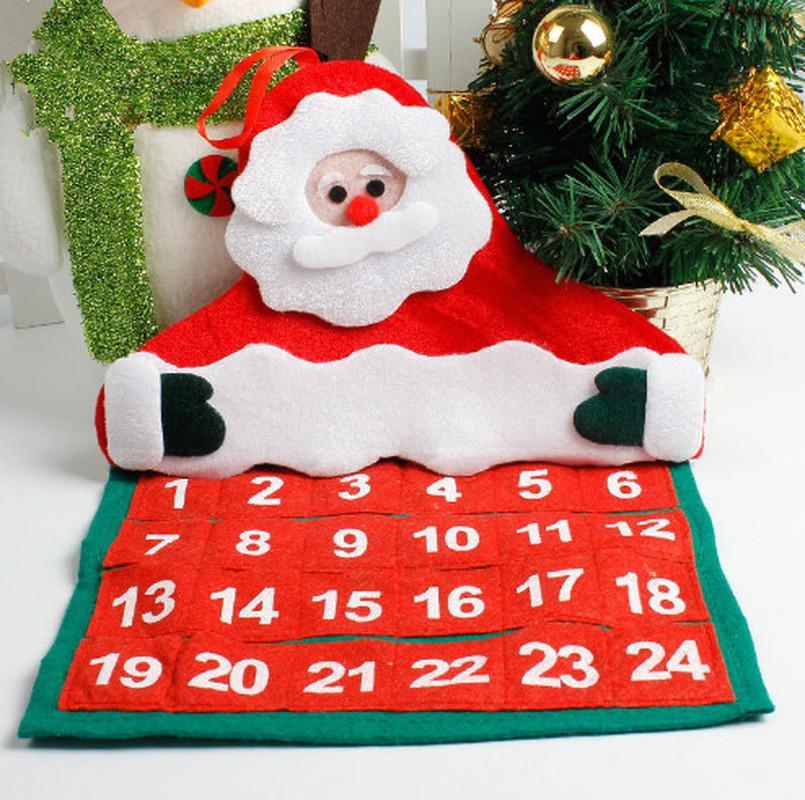 Kalender Weihnachten 2019.2019 Frohe Weihnachten Weihnachtskalender Dekorationen Weihnachtsmann Kalender Advent Countdown Ornament Hängende Banner Anhänger Dekorationen