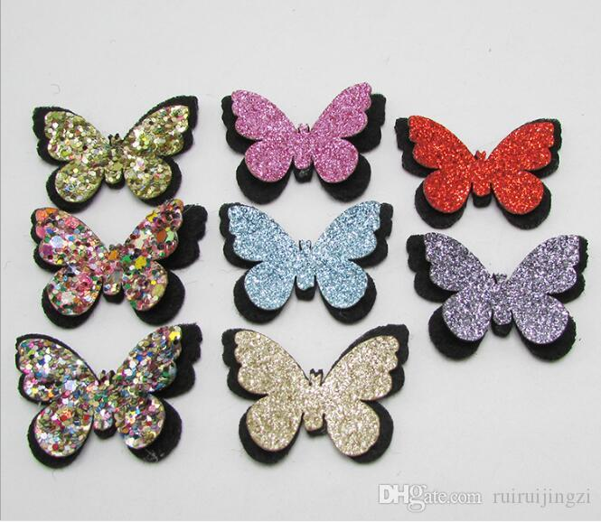 2018 New Pet Cats Grooming Accessories Clips Pet Bow Dog Accessories Hairpin Princess Hairpin Lovely Gold Double Butterfly Hair Clip /