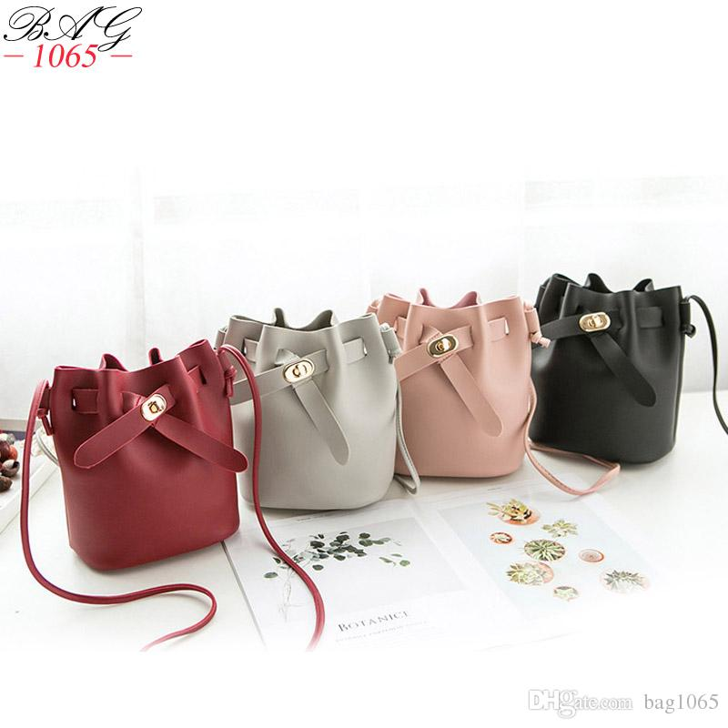 c4166a815c6c New Arrival Fashion Bucket Bag Women small Shoulder Bag Brand Messenger Bag  Designer PU Leather Handbag Cute coin purse for girl