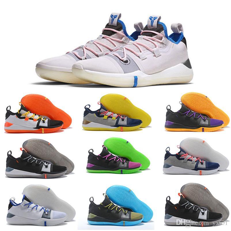 sports shoes 46187 9af5f Großhandel 2018 Neue Kobe AD Reagieren Exodus Derozan Schwarz Silber Lila  Rosa Basketball Schuhe Hohe Qualität KB Herren Trainer Sport Turnschuhe  Größe 7 12 ...