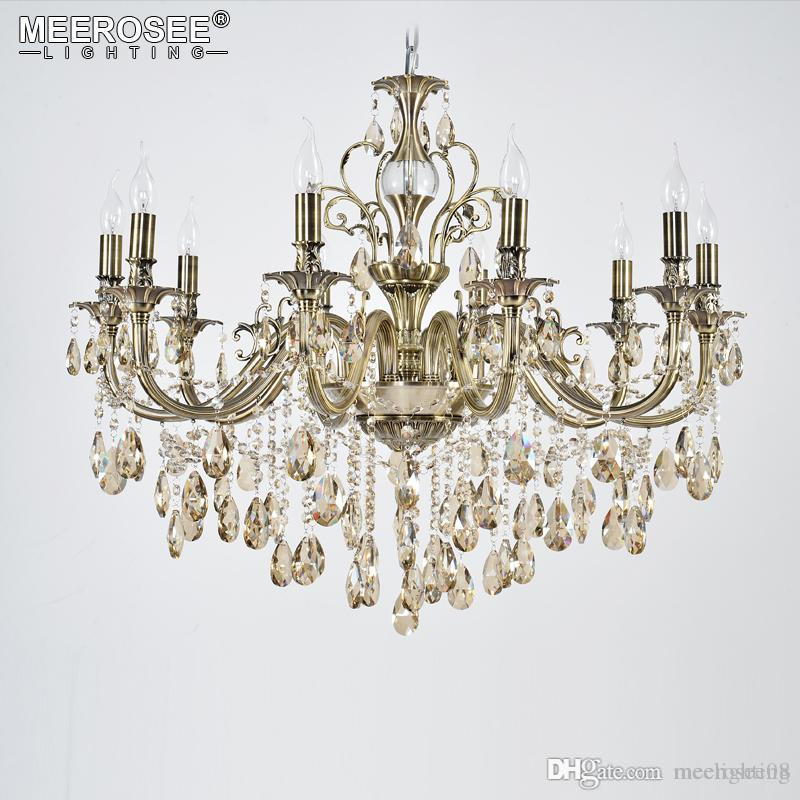 Luxury Crystal Chandelier Light Fixture Good Quality Lustres Suspension Lampara De Techo Dining Room Living Lighting Acrylic Victorian