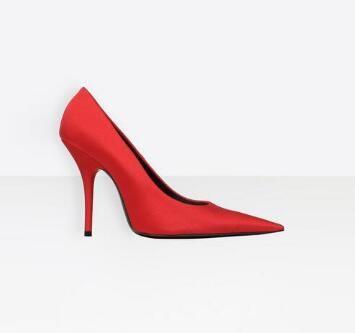2018 Pink Green Stretch Fabric High Heels Zapatos de mujer Kim Kardashian Style Thin Heels Zapatos Sexy Pointed Toe Mujeres Bombas