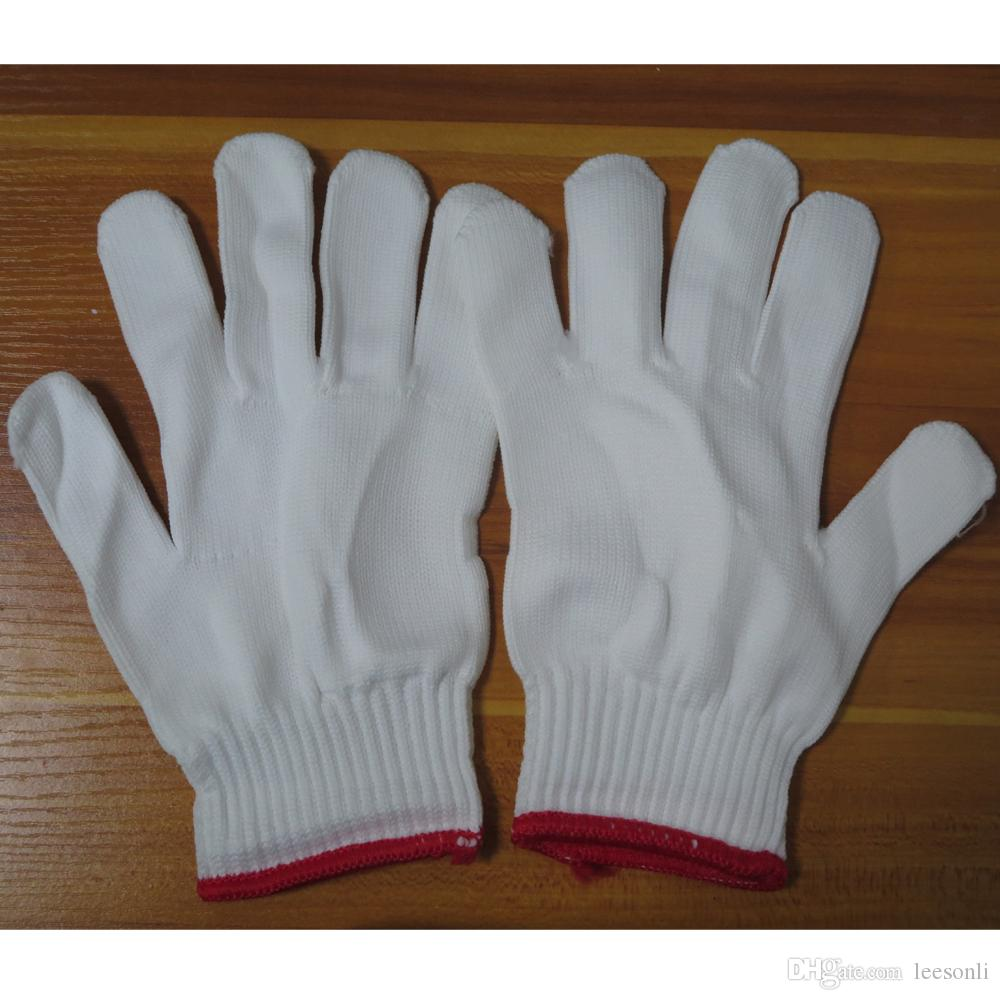 White Linen Gloves for Mobile Phone LCD Screen Glass Repair Working Labor Liner Hand Safely Security Protector