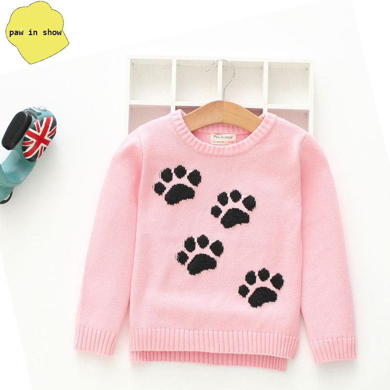 5b1d72bcf720 2018 Autumn Winter Sweater Tops Girls Knitted Pullovers Cartoon ...