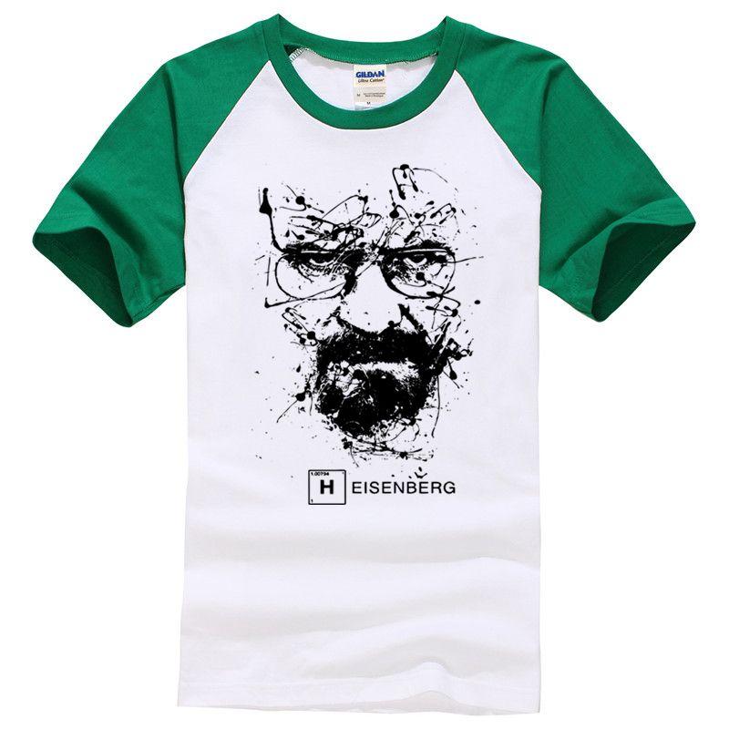 Walter White Tops Cotton O-Neck Heisenberg Men T-shirt Short Sleeve Casual Breaking Bad Print T Shirt For Men 2018