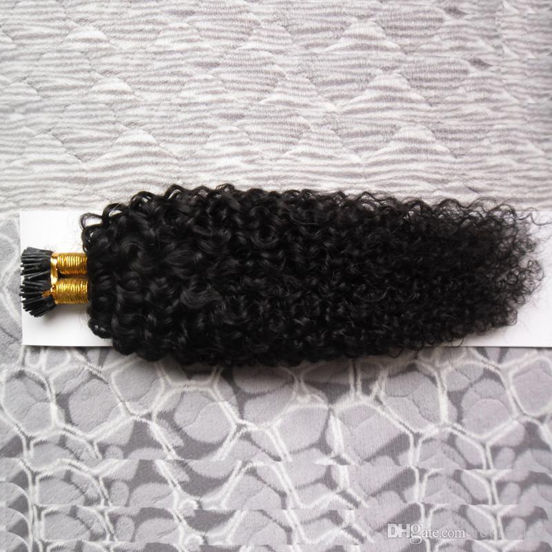Наращивание волос Natural Color I Tip 1,0 г / с 100 г Бразильские странные вьющиеся кератиновые палочки для наращивания волос
