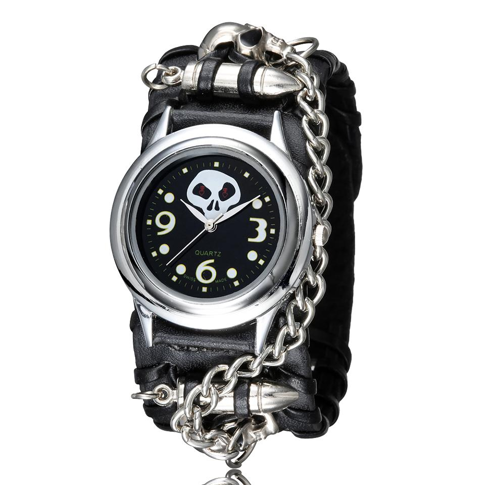 Creative Skull Men Watch The Nightmare Before Christmas Rivet ...