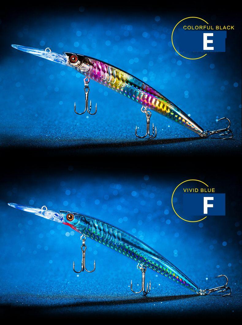 PVC confezione al dettaglio Confezione Minnow Laser Artificiale esca bass fishhook 14 cm 12.4g affondamento lento Magebass swimbait esche da pesca
