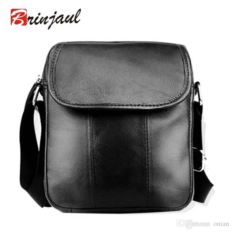 f57bcd3ac571 Wholesale-NEW ARRIVAL Men Small Bag Fashion 100% Genuine Leather ...