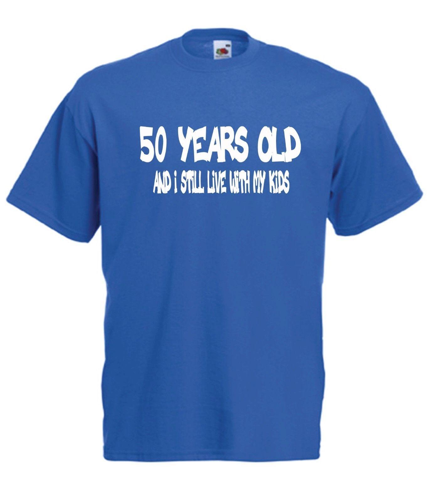 Grosshandel Geburtstags Party Der Vater 50 Partei Weihnachtsgeschenkidee Lustigen Frauen T Shirt Spitze Manner Freies Verschiffen