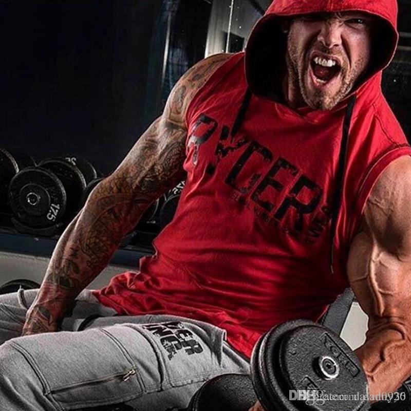 157e8008f1a67 2018 Fashion Men s Bodybuilding Hoodies Sleeveless Hoodie Tracksuit ...