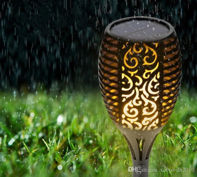 Lampada solare Giardino Impermeabile 96 LED TIKI Torcia Torcia Light Outdoor Courtyard Solar Energy Dancing Flame Flicking Decoration Lamps LLFA
