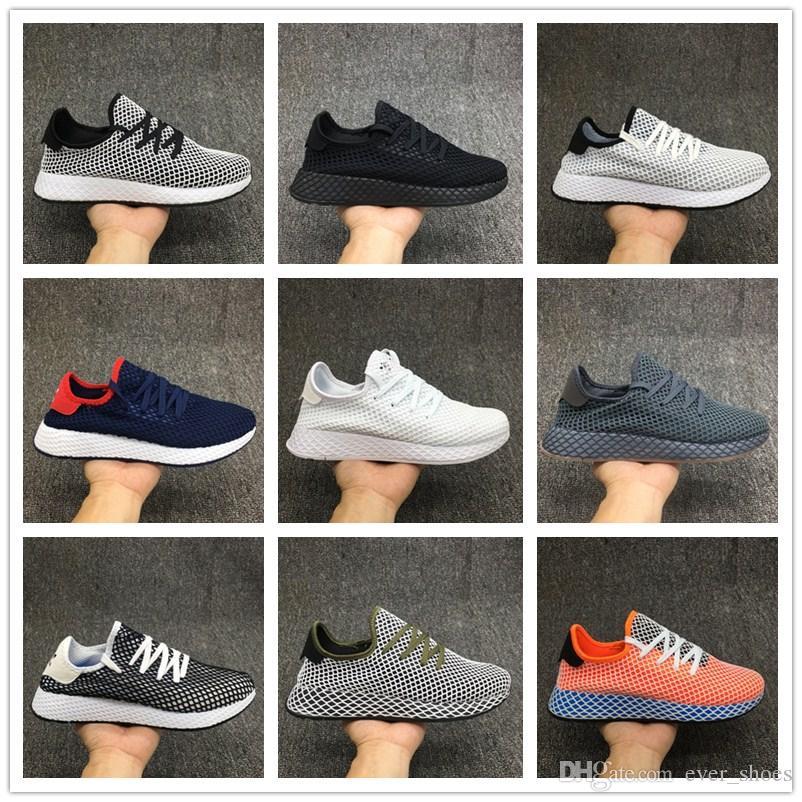 2018 DEERUPT RUNNER chaussures Pharrell Williams Stan SmithTubular Shadow Knit Designer Mesh Running baskets zapatos chaussures chaussures de sport
