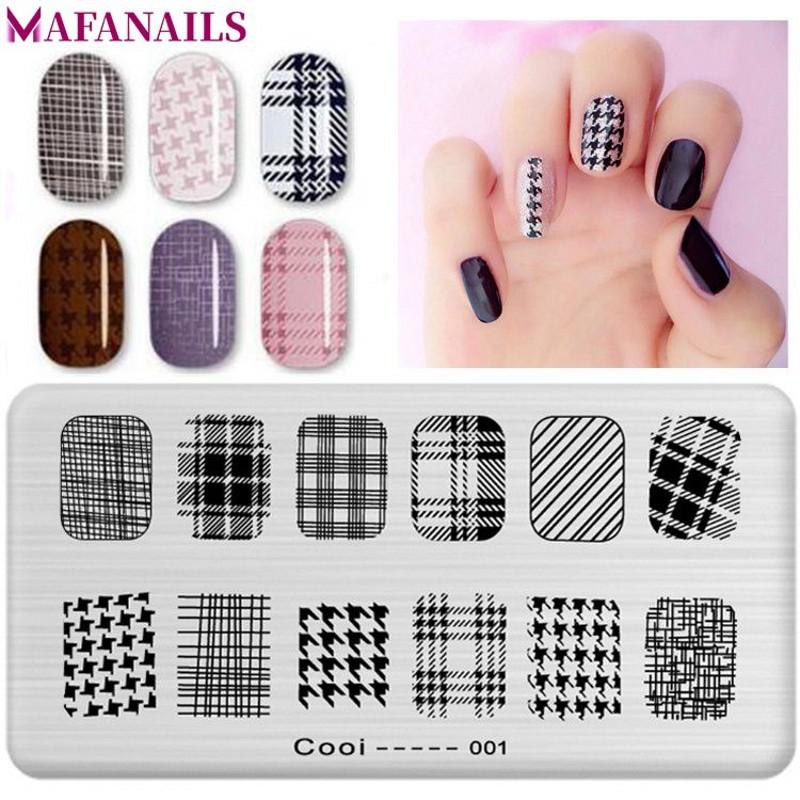 10 Designs Option Nail Art Stamping Image Template Plate 6*12CM Grid ...