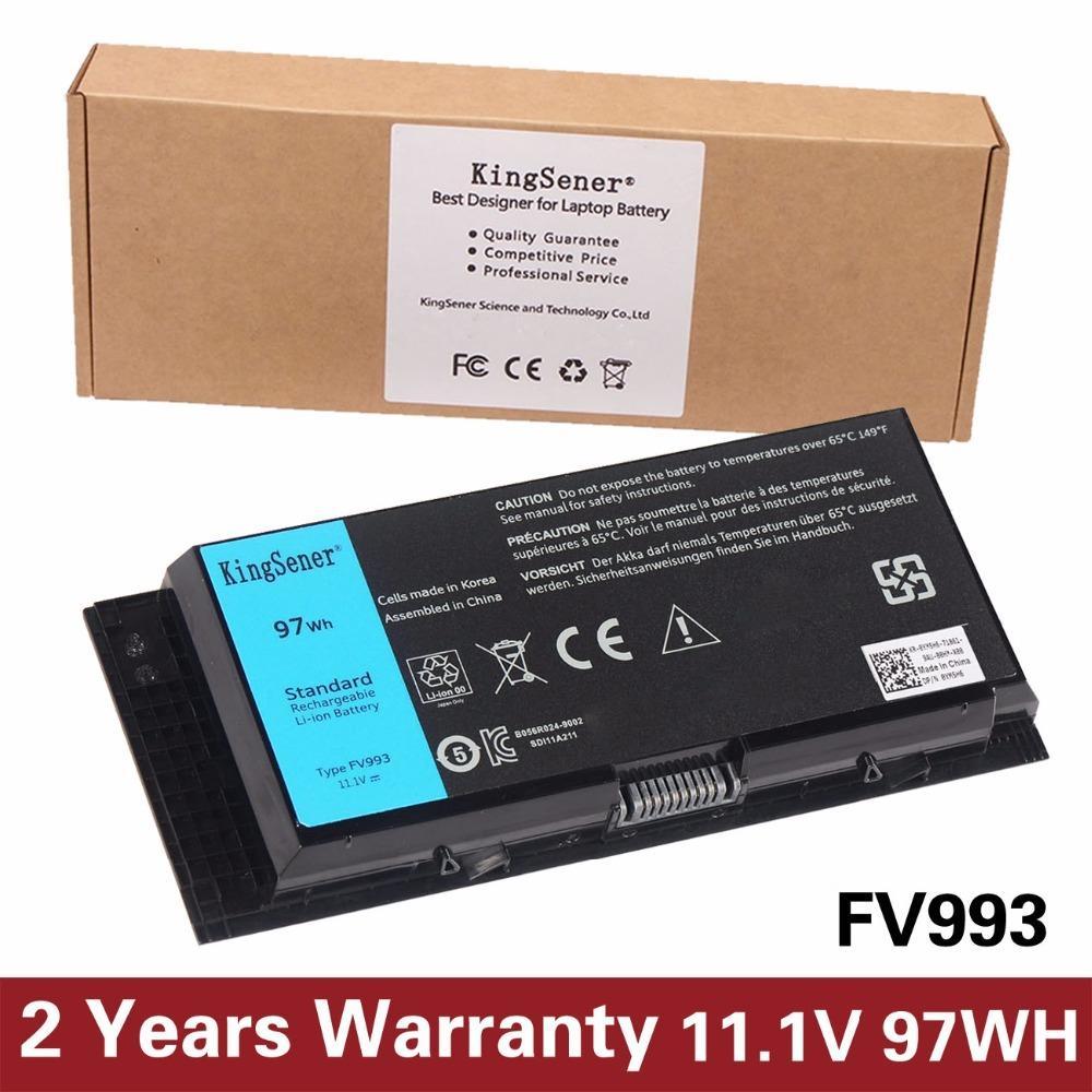 2019 KingSener Korea Cell FV993 Battery For DELL Precision M6600 M6700  M6800 M4800 M4600 M4700 FJJ4W PG6RC R7PND OTN1K5 11.1V 97WH From Kingsener,  ...