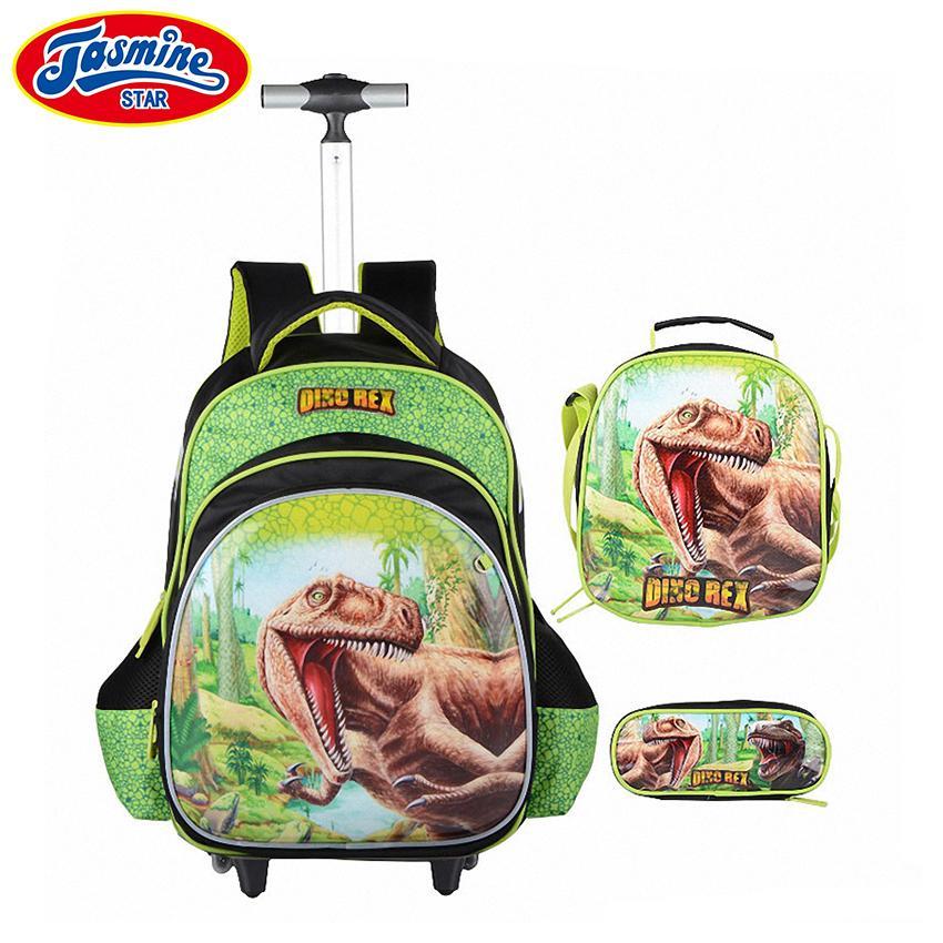 d28c9578cc4d JASMINESTAR Trolley School Bags Boy Cartoon Wheeled Bag +Pencil Case +  Shoulder Bag Kids Large Capacity Backpack School For Boys Y18100805 Back  Backpack ...