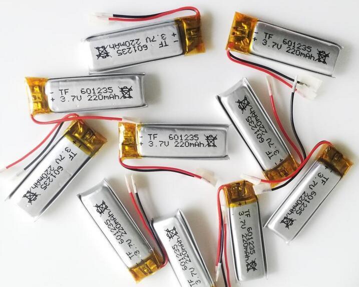 3.7v 220mAh 601235 Li-polymer Rechargeable Battery LiPo with Protect borad power For mini speaker Mp3 bluetooth GPS DVD Recorder Jabra BT200