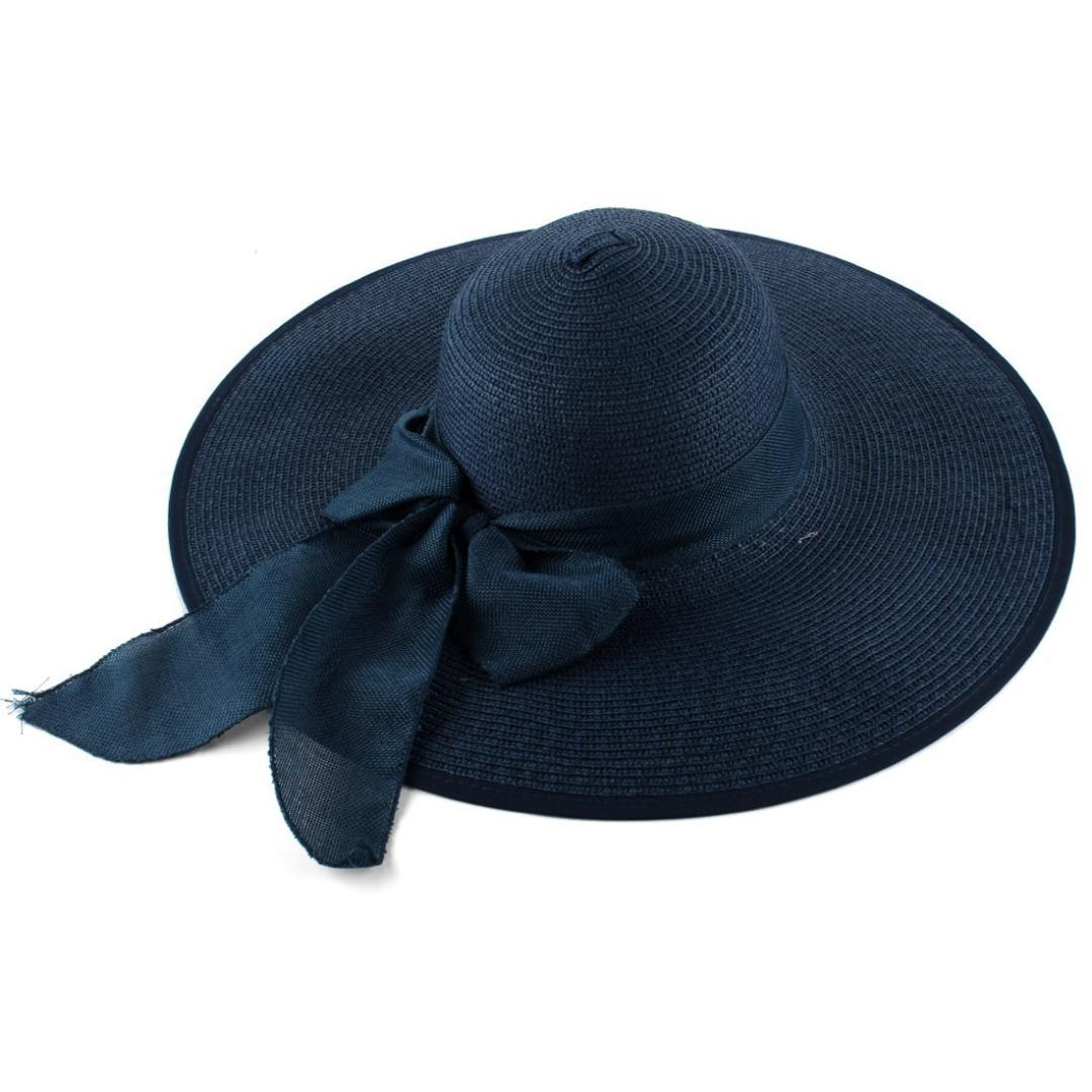 Self Tie Bow Wide Brim Beach Wear Straw Hat For Ladies Beach Hats Sun Hats  For Women From Ekkk 7eb79af590b