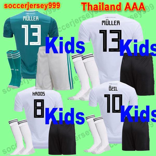 812cd8eb303 Germany Soccer Jerseys KIDS Kit 2018 World Cup OZIL MULLER GOTZE ...