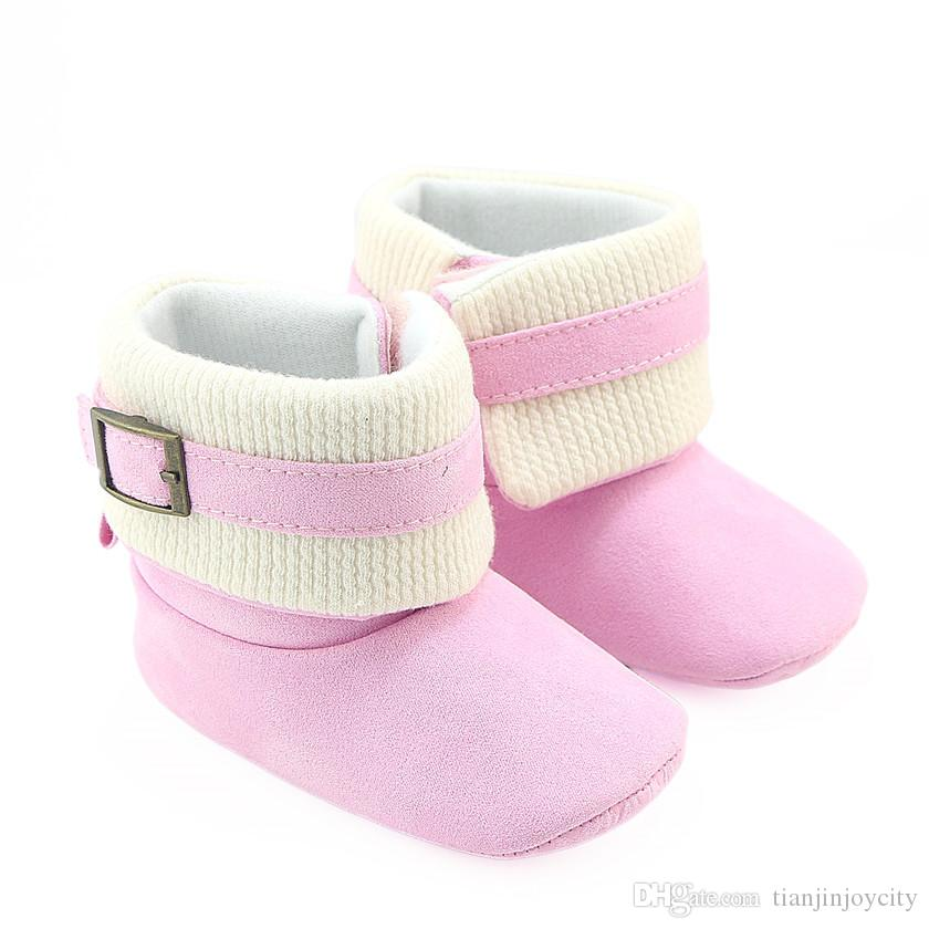 9f6f6ffd55842 Winter Toddler Infant Shoes Children Boys Girls Boots Knitting Baby Booty  Princess Soft Sole Warm First Walkers Babe Snow Shoe Online with   11.43 Piece on ...