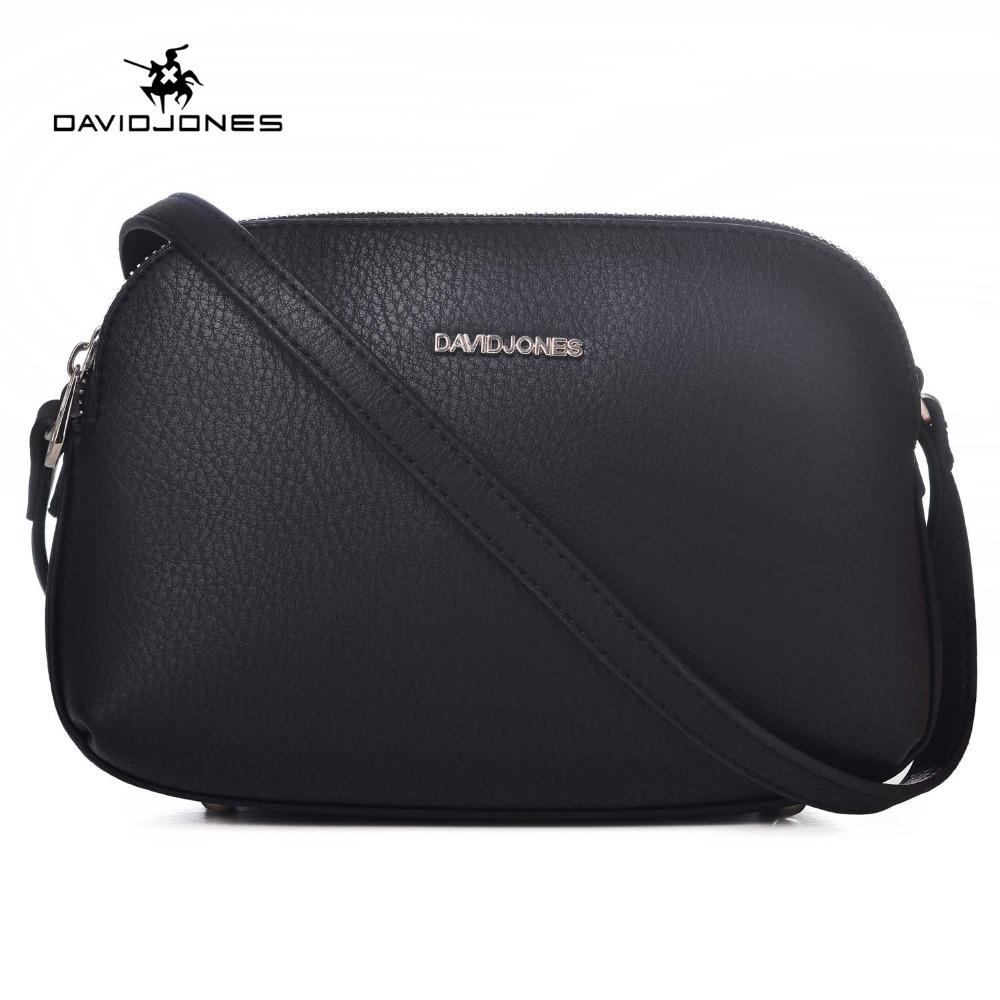 964fae0744b1 DAVIDJONES Women Handbags Pu Leather Female Messenger Bags Smart Lady Casual  Shoulder Bag Girl Brand Crossbody Bag Drop Shipping Y1890801 Shoulder Bags  ...