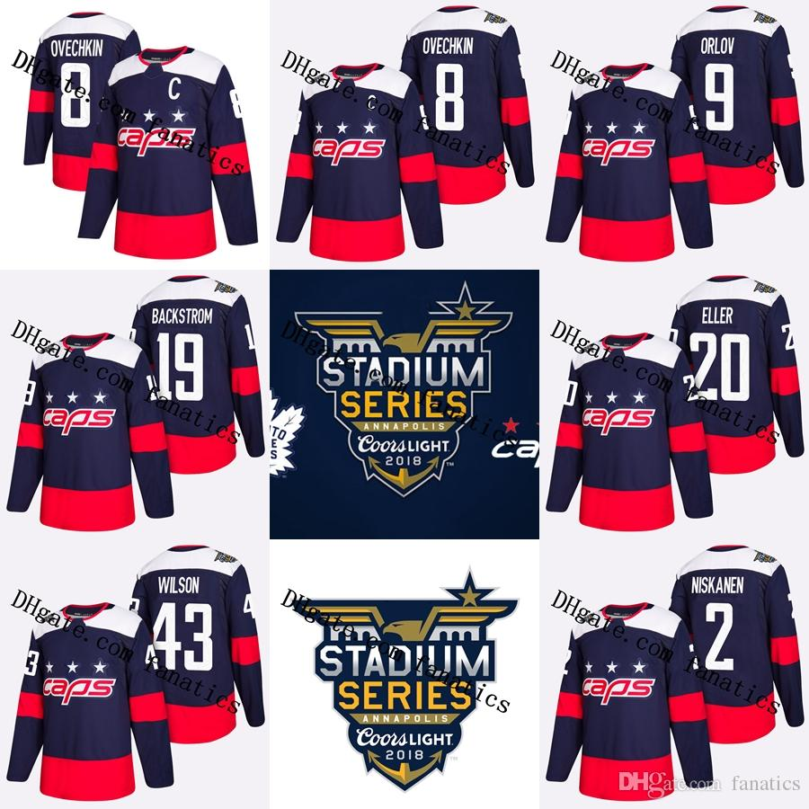 2019 2018 Stadium Series Stanley Cup Champions Final Capitals Alex Ovechkin  Nicklas Backstrom Matt Niskanen Dmitry Orlov Lars Eller Hockey Jersey From  ... a791bb0bb