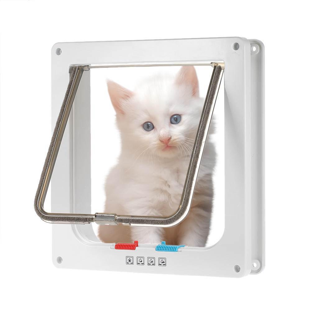 Pet Door 4 Way Locking Indooroutdoor Cat Kit Dog Door Flap Wall