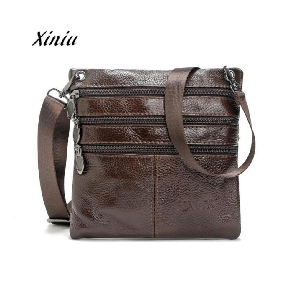 Men Luxury Leather Messenger Bag Male Business Postman Bags High Quality  Causal Travel Crossboby Shoulder Bag Phone Money Pouch Purses Designer  Handbags ... 33f4e7fd5fb4c