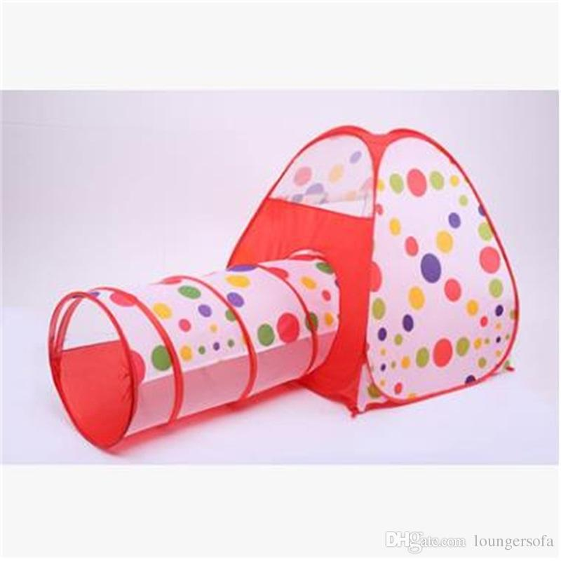 Fashion Kids Play Tents Easy Carry Portable Tent Anti Wear Creative Wear Resistant Huge Tunnel Toy House Outdoor Indoor 55lj jj