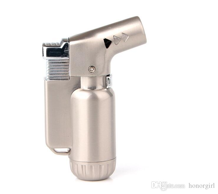 Yeni Mini Torch Jet Çakmak Windproof Bütan Puro Sigara Doldurulabilir Mikro Çakmak Sigara Mutfak Araçları Için HIÇBIR Gaz 3 renk