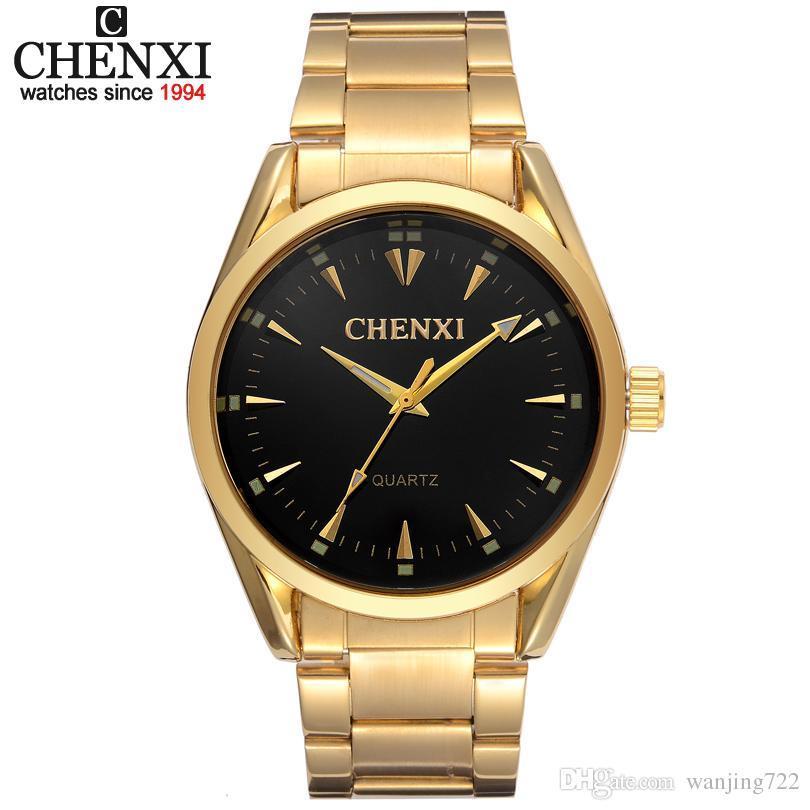 4421f7ae12ad Compre Nuevos Relojes De Oro Hombres Marca De Lujo Chenxi Reloj De Pulsera  Relojes De Hombre Reloj De Pulsera De Acero Inoxidable Dorado Cuarzo Moda  Hombre ...