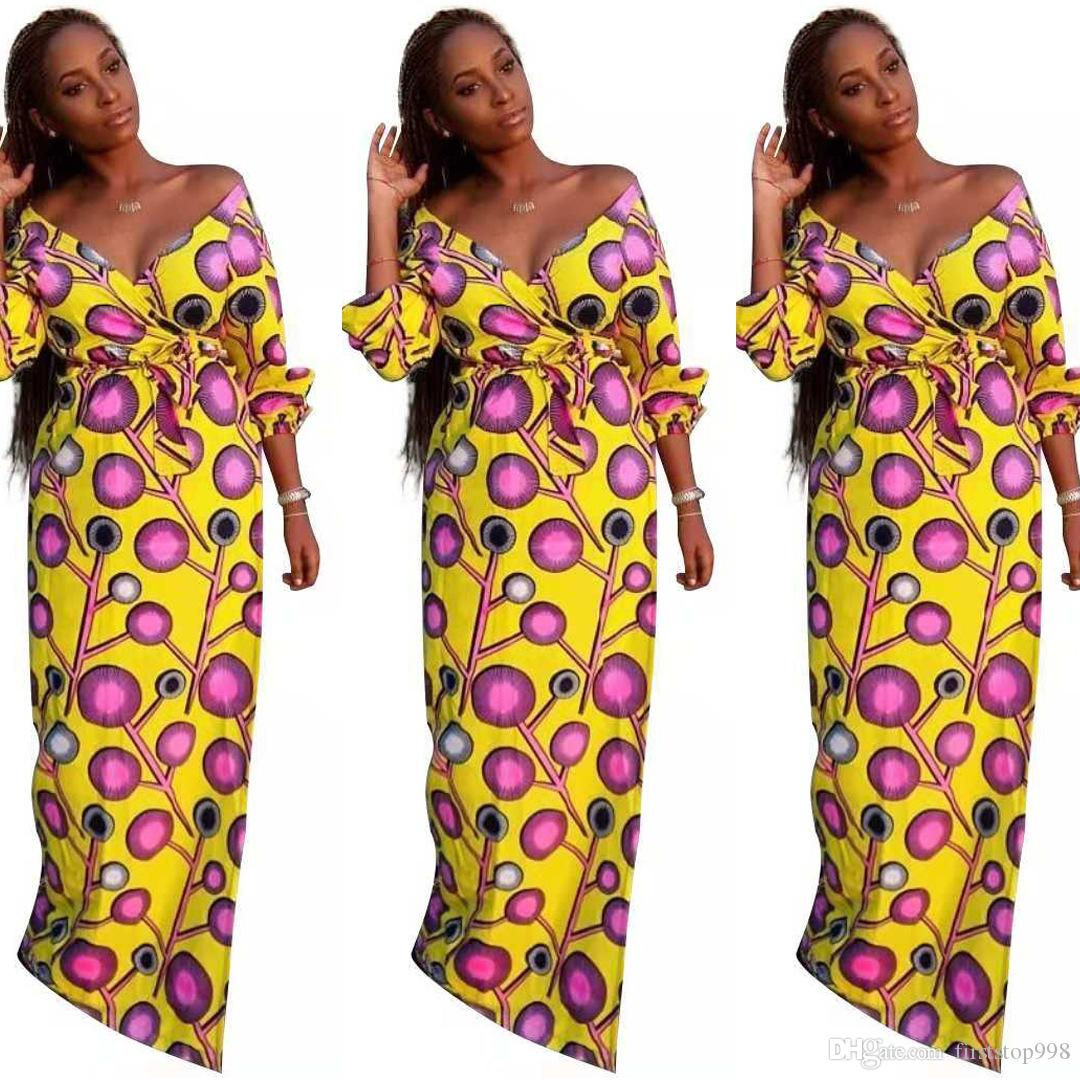 5c71a9a9f235d African Dresses Riche African Women Clothing Dress Real 2018 Ladies Fashion  Loose Slim Casual Dress Women Long Dresses Dresses For Cocktail Party From  ...