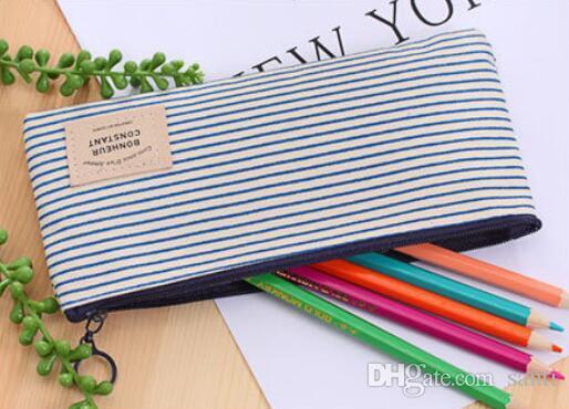 escola Papelaria Popular caixa de lápis Canvas Bag Lápis Escola pencilcase Escritório Escola Suprimentos Pen saco Lápis Escrevendo Suprimentos presente