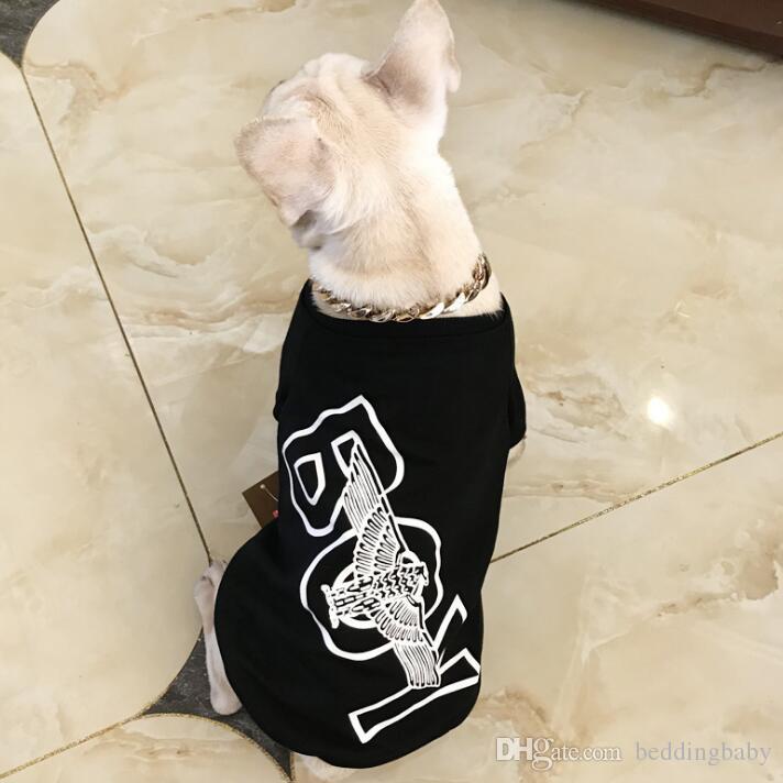 Spring Puppy Fashion Style Long Sleeve T-shirt Tide Brand Cute Ragdoll Teddy Apparel Small Dog Cat Fashion Clothing